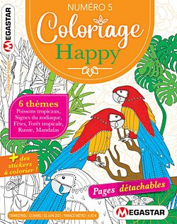 Coloriage Happy - Numéro 5