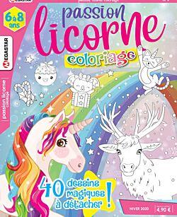 Passion licorne Coloriage - Numéro 9
