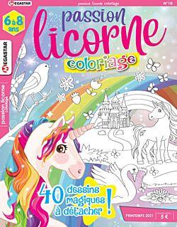 Passion licorne Coloriage - Numéro 10