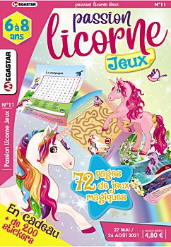 Passion licorne Coloriage - Numéro 11